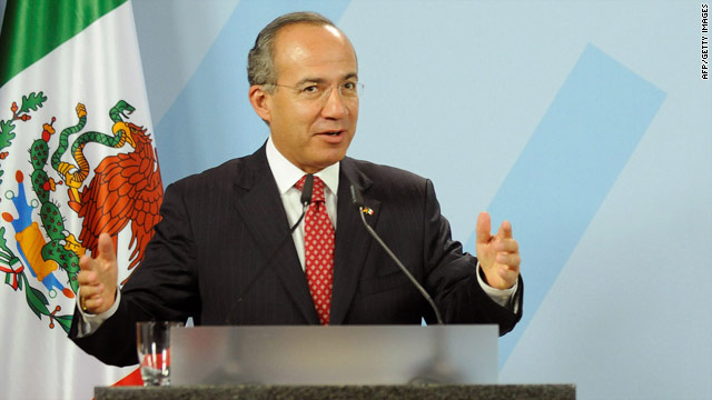 President Felipe Calderon of Mexico is flying to Washington this week. He'll meet with President Obama and address Congress.