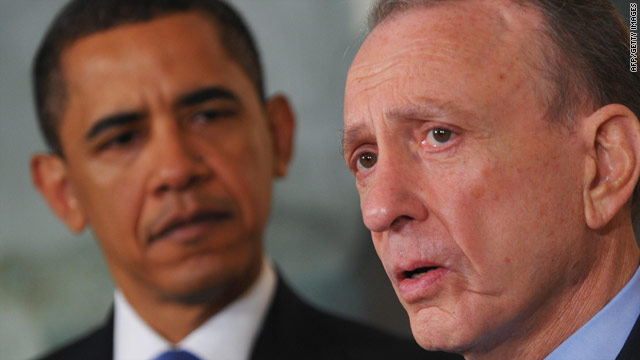 President Obama's support wasn't enough for Sen. Arlen Specter in Pennsylvania's Democratic primary.