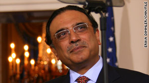 U.S. security officials are asking Pakistani President Asif Ali Zardari to step up anti-terrorism efforts.
