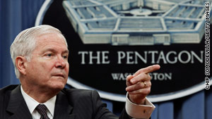 Defense Secretary Robert Gates indicates a military review should be finished before there's any repeal of the policy.