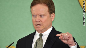 "Sen. Jim Webb is ""really disappointed"" in his party's accelerated push to repeal the ""don't ask, don't tell"" policy."