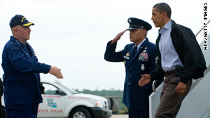 President Obama arrives in Louisiana on Friday, his second trip to the area in two weeks.