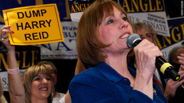 Tea Party-backed candidate Sharron Angle hopes to unseat Senate Majority Leader Harry Reid in Nevada in the fall.