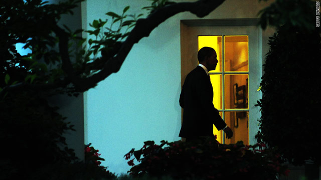 President Obama enters the Oval Office in late May. He's set to address the nation from that office on Tuesday night.
