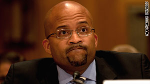 Darryl Willis, the vice president of resources for BP America, appears before U.S. senators on Wednesday.