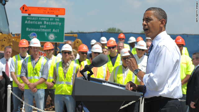 President Obama speaks on the economy in Columbus, Ohio, on June 18.