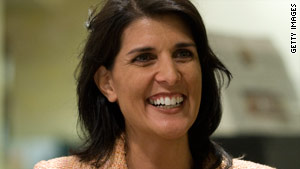 Nikki Haley fell short of the 50 percent threshold needed to avoid a runoff for South Carolina's GOP gubernatorial nod.