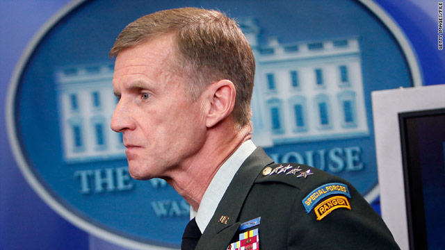 Gen. Stanley McChrystal's resignation was accepted by President Obama.