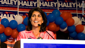 Republican Nikki Haley will face Democrat Vincent Sheheen in South Carolina's governor's race in the fall.