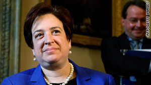 Solicitor General Elena Kagan met with senators ahead of her confirmation hearings.