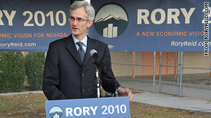 Harry Reid's son Rory campaigns in the Nevada gubernatorial race.