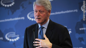 Clinton was at a meeting, hosted by President Obama, with business leaders Wednesday, a White House official says.