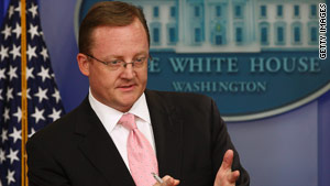 Robert Gibbs is under fire for saying that Democrats might lose control of the House.