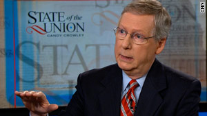 "Senate Minority Leader Mitch McConnell says the GOP is proud to be the ""party of no"" on some issues."