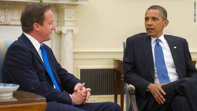 President Obama hosts British Prime Minister David Cameron in the Oval Office at the White House on Tuesday.