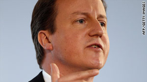 David Cameron is in the United States on his first visit as Britain's leader.