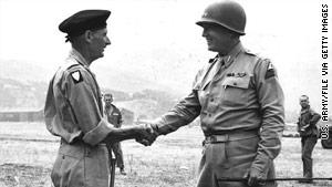 "U.S. Gen. George Patton, right, had a ""special relationship"" with World War II allies like British Gen. Bernard Montgomery."