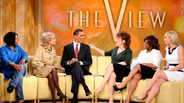 "Then-Sen. Barack Obama appeared on ""The View"" in March 2008."