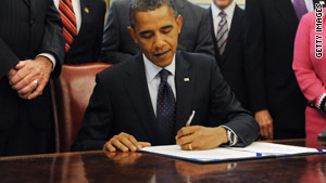 President Obama signs the Fair Sentencing Act in the Oval Office at the White House on Tuesday.