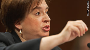 Solicitor General Elena Kagan on Thursday was confirmed by the U.S. Senate by a vote of 63-37.