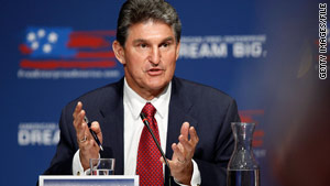 A watchdog group said Joe Manchin was under investigation over work done at the West Virginia Governor's Mansion.