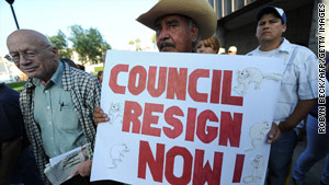 The high salaries paid to Bell city leaders provoked anger as California deals with a nearly $20 billion budget deficit.