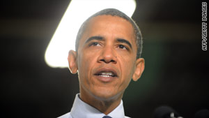 """""""We've got to keep going forward,"""" President Obama says Monday at the ZBB plant in Menomonee Falls, Wisconsin."""