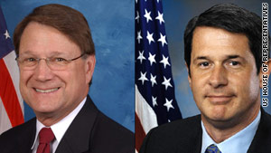 Democratic Rep. Charlie Melancon, left, and Republican Sen. David Vitter were easy winners Saturday.