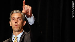 "U.S. Education Secretary Arne Duncan is visiting four Northeastern states on his ""Courage in the Classroom"" tour."