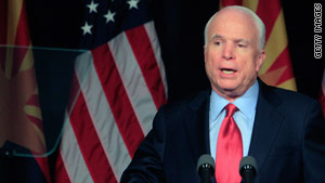 "Sen. John McCain says he'd ""love for the president to come and visit the border."""