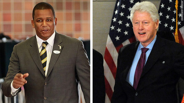 U.S. Rep. Kendrick Meek has received strong support in his bid for a U.S. Senate seat from Florida from former President Clinton.