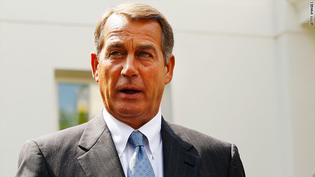 John Boehner said he would consider supporting President Obama's tax-cut extension plan if no other option were available.