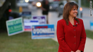Tea Party favorite Christine O'Donnell beat nine-term Republican Rep. Mike Castle in Delaware's GOP Senate primary.