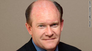 Chris Coons is the Democratic nominee for one of the two U.S. Senate seats from Delaware.