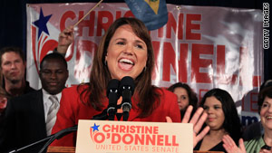 Christine O'Donnell says she can win the Delaware Senate seat without the backing of the GOP establishment.'