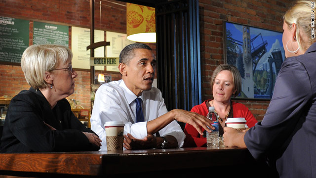 President Obama met with small-business owners in Seattle, Washington last month.