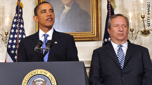 Larry Summers, shown with President Obama in January, drew praise for his judgment amid tough economic times.