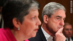 Homeland Security Secretary Janet Napolitano and FBI Director Robert Mueller attend Wednesday's hearing.
