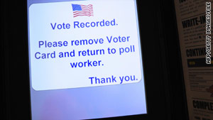 Almost all U.S. polling places use some type of electronic voting machine.