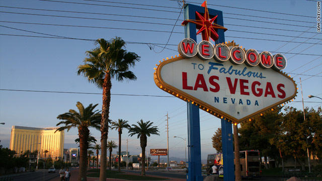 Right now, Las Vegas features more than bright lights and gambling. The airwaves here are also saturated with political ads.