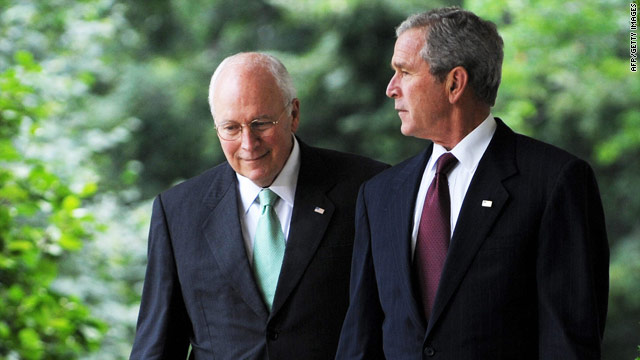 Former Vice President Dick Cheney and President Bush, here in July 2008, have been absent on this year's campaign trail.
