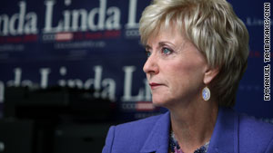 Republican Senate candidate Linda McMahon left her job as chief executive of WWE to run for office.