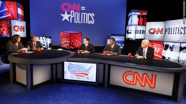 "Florida's Senate candidates square off in a debate on CNN's ""State of the Union."""