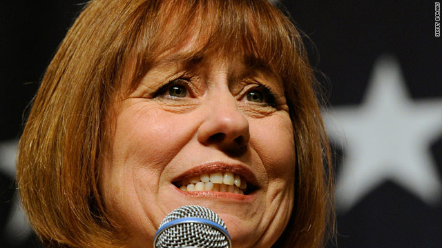 """U.S. Senate hopeful Sharron Angle told voters at a Nevada rally, """"there is going to be shock and awe in Washington."""""""