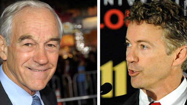 Texas Republican Rep. Ron Paul, left, is the father of Rand Paul, the GOP candidate in the Kentucky Senate race.