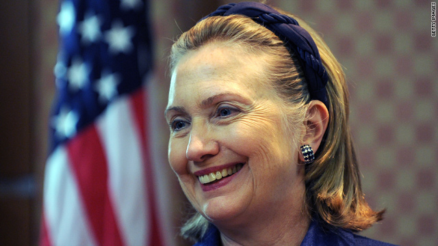 Secretary of State Hillary Clinton is in Asia Tuesday.