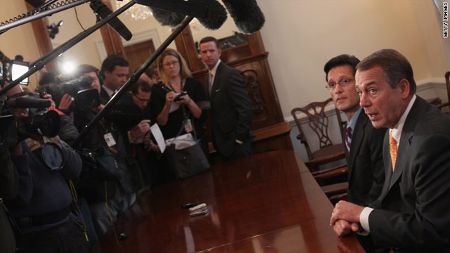 Reps. Eric Cantor and John Boehner are poised to be the leaders of the new Republican majority in the House.