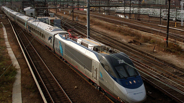 Amtrak's Acela offers high-speed rail service between Washington, New York and Boston, Massachusetts.