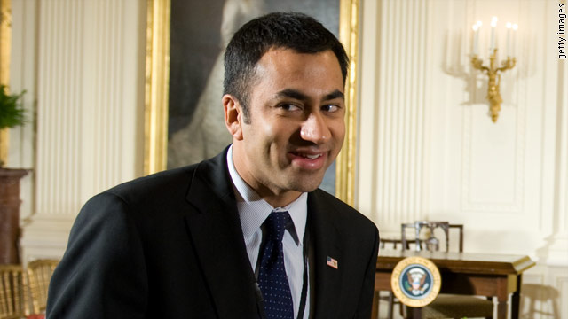 Actor Kal Penn is back to work at the White House.