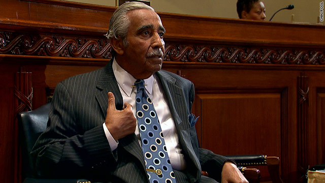 Rep. Charlie Rangel defends himself at Thursday's House ethics committee hearing.